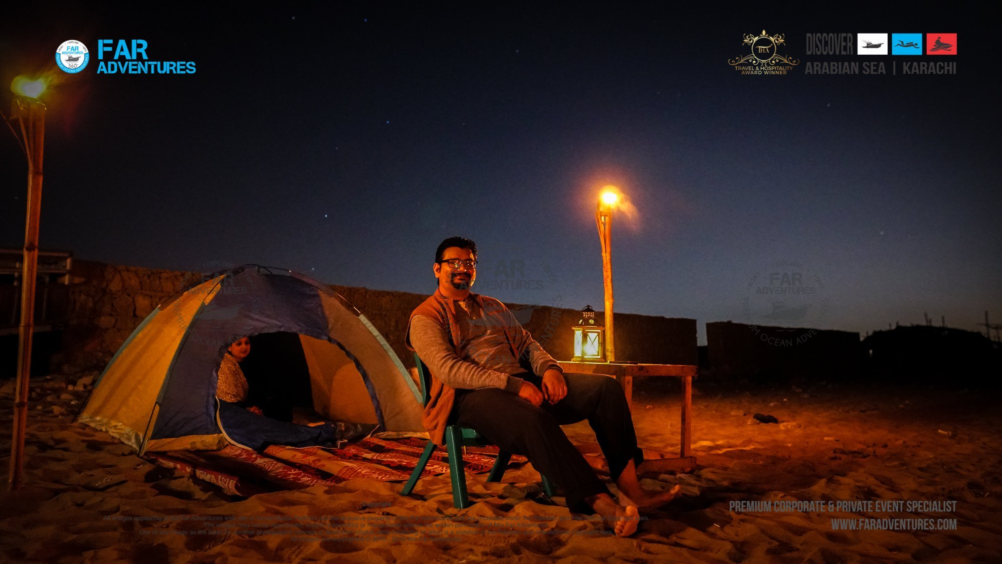 BEACH CAMPING & MOVIE NIGHT