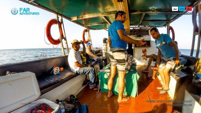 Open Sea Fishing Boat